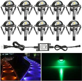 FVTLED Pack of 10 Low Voltage LED Deck Lights kit Dia. 1.38