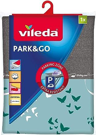51c0eedf052 Vileda Park & Go - Funda de planchar, funda con zona parking, forro  metalizado