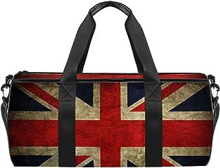 EGGDIOQ Vintage Union Jack British Flag Designed Travel Duffel Bag Luggage Tote Bag Gym Sports Bag for Man Women