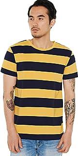 Zbrandy Wide Striped T Shirt for Men Sailor Tee Red White Black Navy Stripes Top Basic