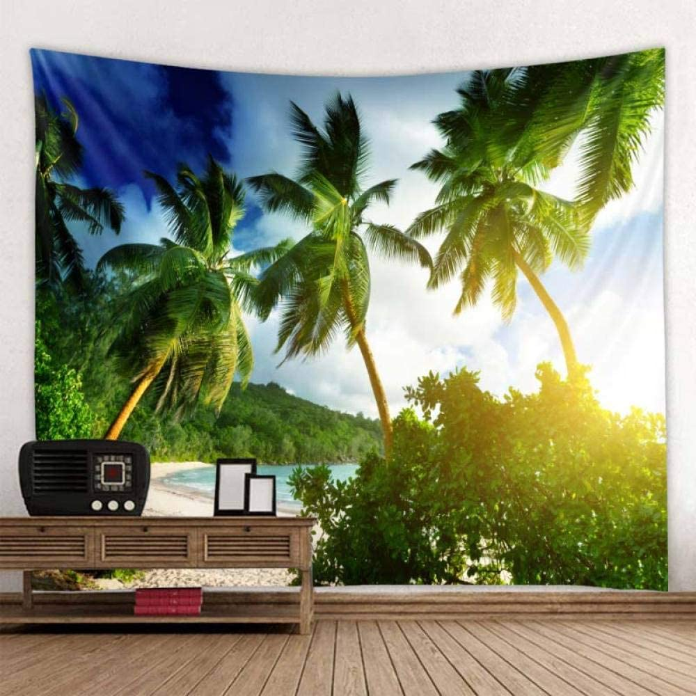 SYYUN Hanging Tapestries Beach Limited price Nashville-Davidson Mall Coconut Woo Scenery Tapestry Tree
