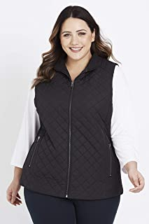 Beme Sleeveless Quilted Vest - Womens Plus Size Curvy