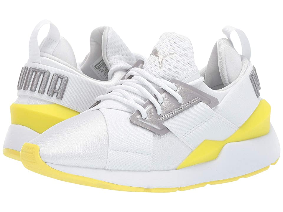 Puma Kids Muse (Big Kid) (Puma White/Blazing Yellow) Girl
