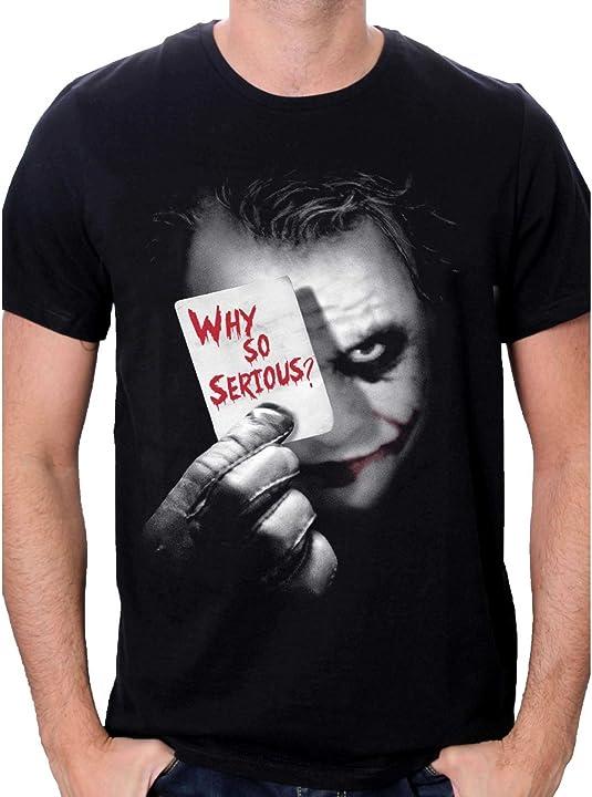 Maglietta joker batman joker why so serious t-shirt uomo METDKTMTS004