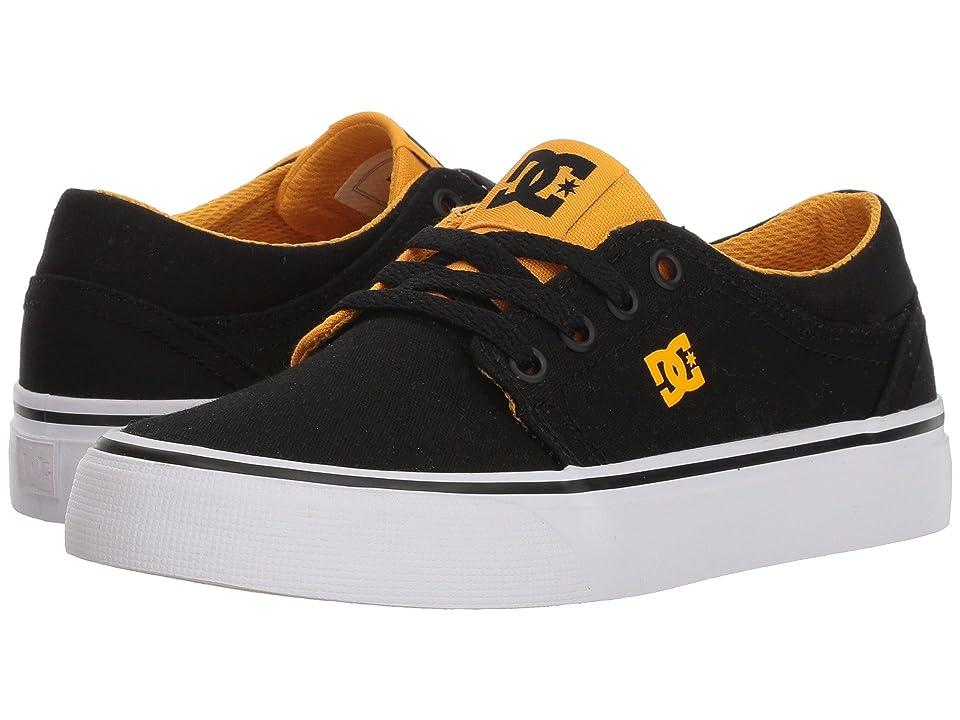 DC Kids Trase TX (Little Kid/Big Kid) (Black/Yellow) Boys Shoes