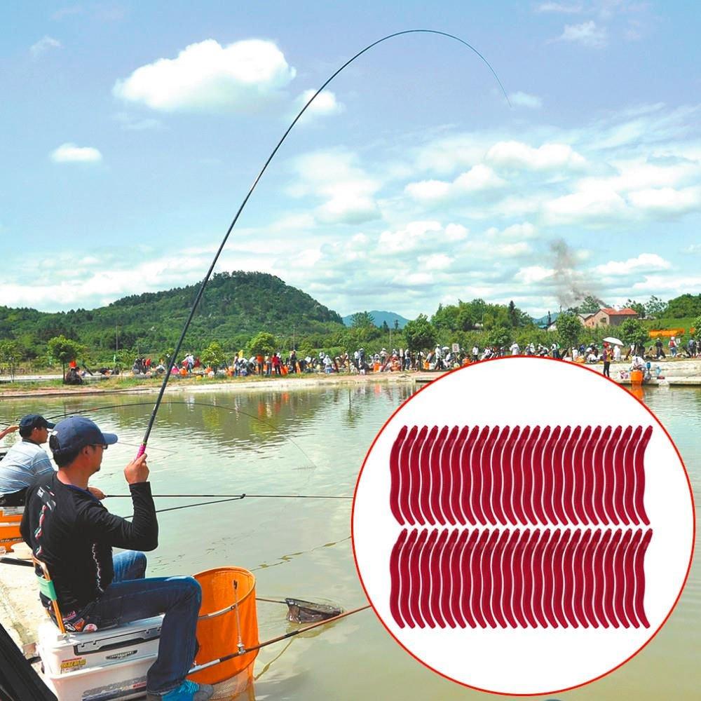 50 x lombrices cebos artificiales Gusano señuelo reclamo silicona ...