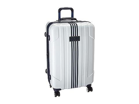 "Reji Stripe 28"" Upright Suitcase, WHITE"