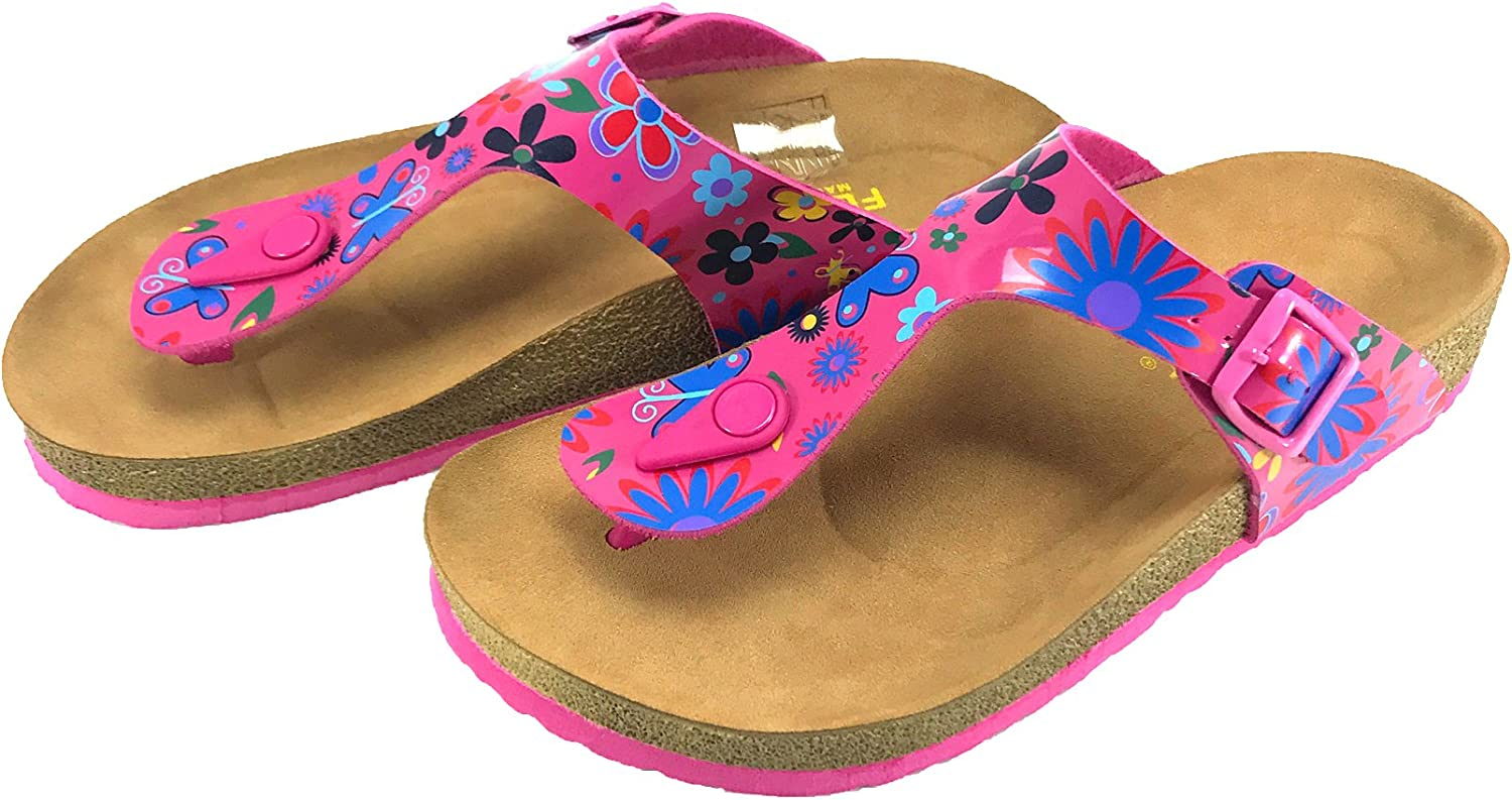 Flysoft Fly Soft Dahlia Women Casual Buckle Thong Strap Sandals Flip Flop Platform Footbed Trends shoes