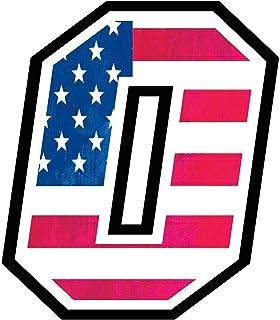 Adesivo NUMERO GARA - da 8 a 14 cm - BANDIERA AMERICANA AMERICA - Motocross Pista Auto Moto Stickers TUTTI I NUMERI