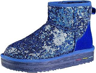 Wotefusi Women's Classic Winter Short Sparkles Snow Boot