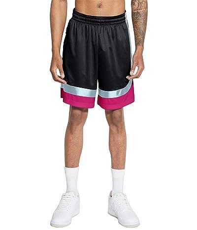 Nike Dry Asymmetric Curve Shorts (Black/Glacier Blue/Fireberry/Black) Men