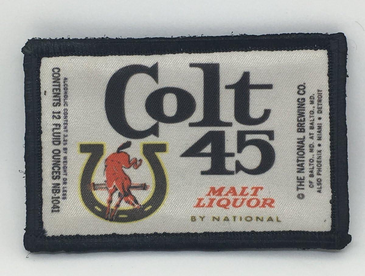 Colt 45 Malt Liquor Label Morale Patch 2x3