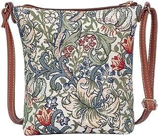 William Morris Golden Lily Sling Bag by Signare/Designer Ladies Crossbody Shoulder Art Handbag/SLING-GLILY