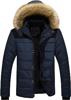 FNKDOR Giubbotto Uomo Invernali Piumino Trapuntata Giacca Parka Cappotto con Cappuccio e Cappotto Teddy Rivestimento