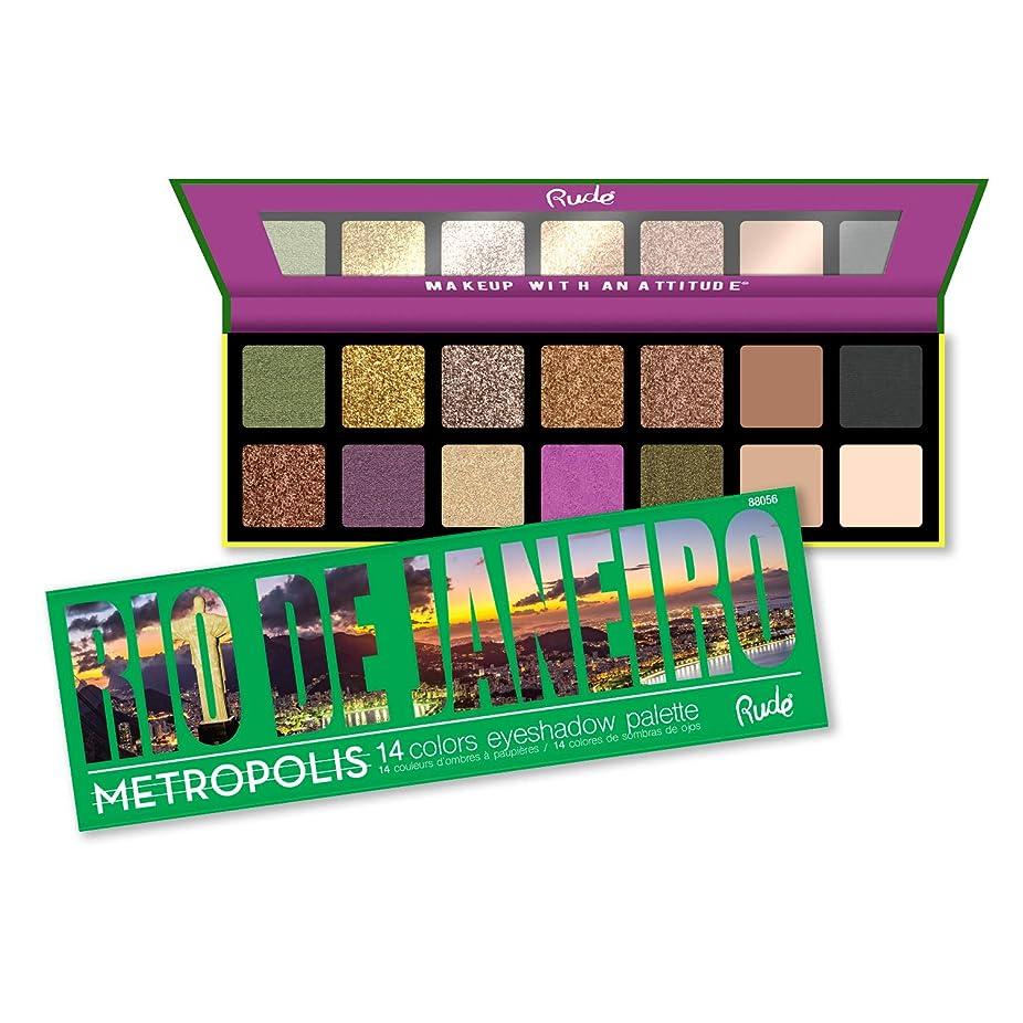 砂のオリエンタルやりがいのある(3 Pack) RUDE Metropolis 14 Color Eyeshadow Palette - Rio De Janeiro (並行輸入品)