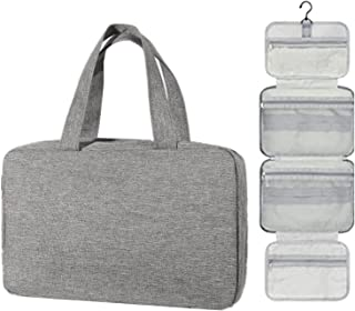 Cosmetic Bag makeup bag with Hanging Hook,Large Hanging Travel Toiletry Bag for Bathroom Shower Travel