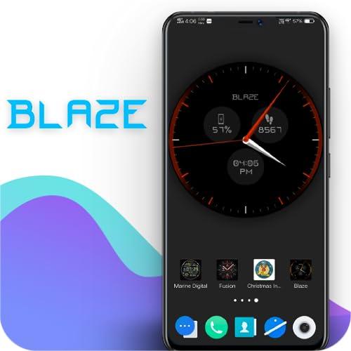 Blaze Clock Live Wallpaper