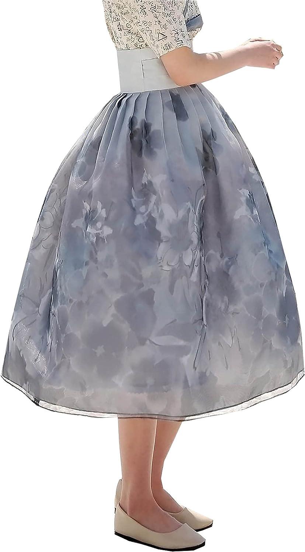 Gray Large special price !! Flower Painting Skirt Modern De Hanbok Korean Bargain Wrapped Dress