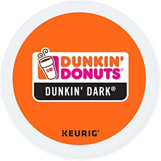 Dunkin Donuts K-cups Dark Roast - 24 Kcups for Use in Keurig Coffee Brewers