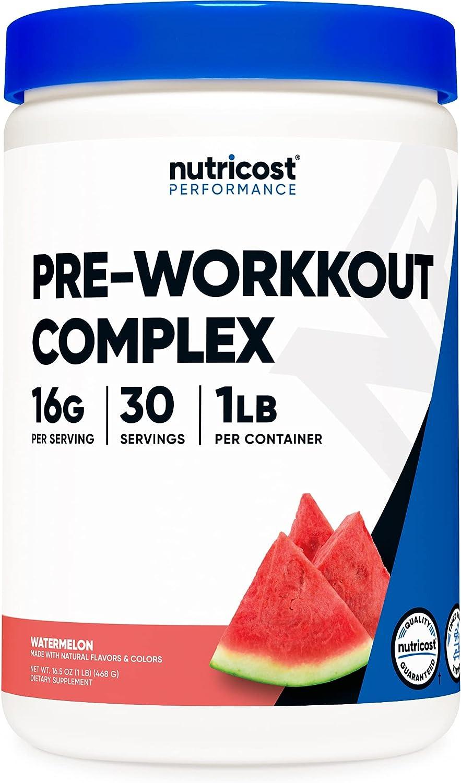 Nutricost Pre-Workout Complex Long Beach Mall Atlanta Mall Powder Serv Watermelon 30