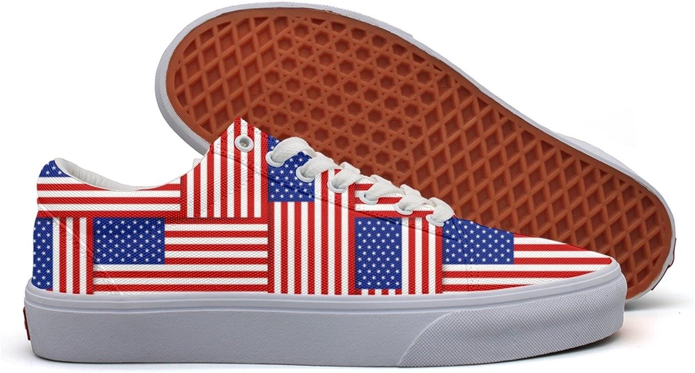 Charmarm USA American Flag Display Womens Beatiful Low Top Canvas Slip-ons shoes