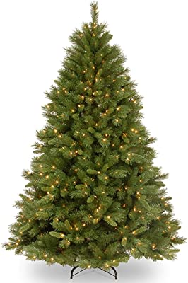 National Tree Company Pre-lit Artificial Christmas Tree   Includes Pre-strung White Lights and Stand   Winchester Pine - 7.5 ft