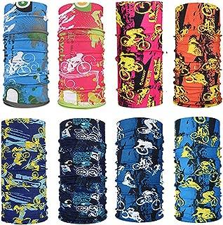 Topren 8 Pi/èces Multifonction Cache Cou Masque Visage Bandeau Casquette pour Moto Cross V/élo Randonn/ée Sports Dext/érieur Anti Poussi/ère Parasites Protection Soleil UV Coupe-Vent Squelette