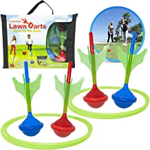 Funsparks Lawn Darts Game Set - Glow in The Dark Outdoor Soft Tip Lawn Darts Set - Great Games for Kids and Adults Lawn Games