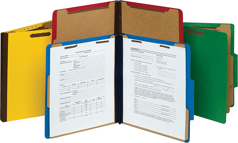 NECI Pressboard Indianapolis Mall Classification Letter Size Folders Blue Cobalt Superlatite