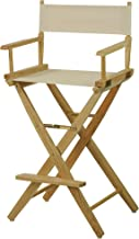 """American Trails Extra-Wide Premium 30"""" Director's Chair Natural Frame with Natural Canvas, Bar Height"""