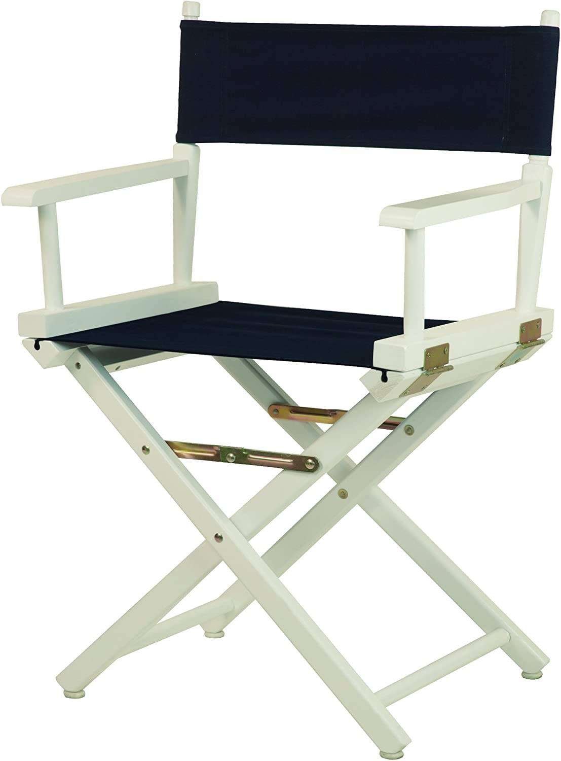 Casual Home 18-Inch Director Chair White Frame, Navy bluee Canvas