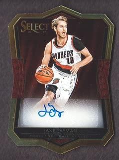 2016-17 Select Basketball Die-Cut Rookie Autograph #28 Jake Layman Auto 143/199 Portland Trail Blazers