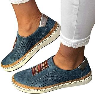 Dasongff Damen Schuhe Laufschuhe Outdoor Hohl Schuhe Freizeit Slip On Bequeme Sohlen Sports Atmungsaktiv Schuhe Leichtgewi...