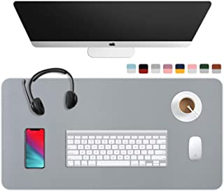 """WAYBER Dual Sided Desk Pad (31.5 x 15.7""""), Waterproof Leather Office Desk Mat, PU Mouse Pad, Desk Cover Protector, Desk Wr..."""
