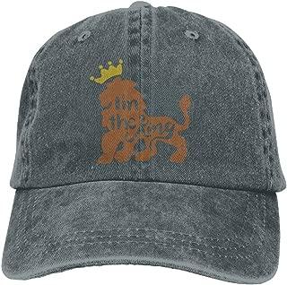 Men's Women's King Tiger Cotton Adjustable Peaked Baseball Dyed Cap Adult Washed Cowboy Hat