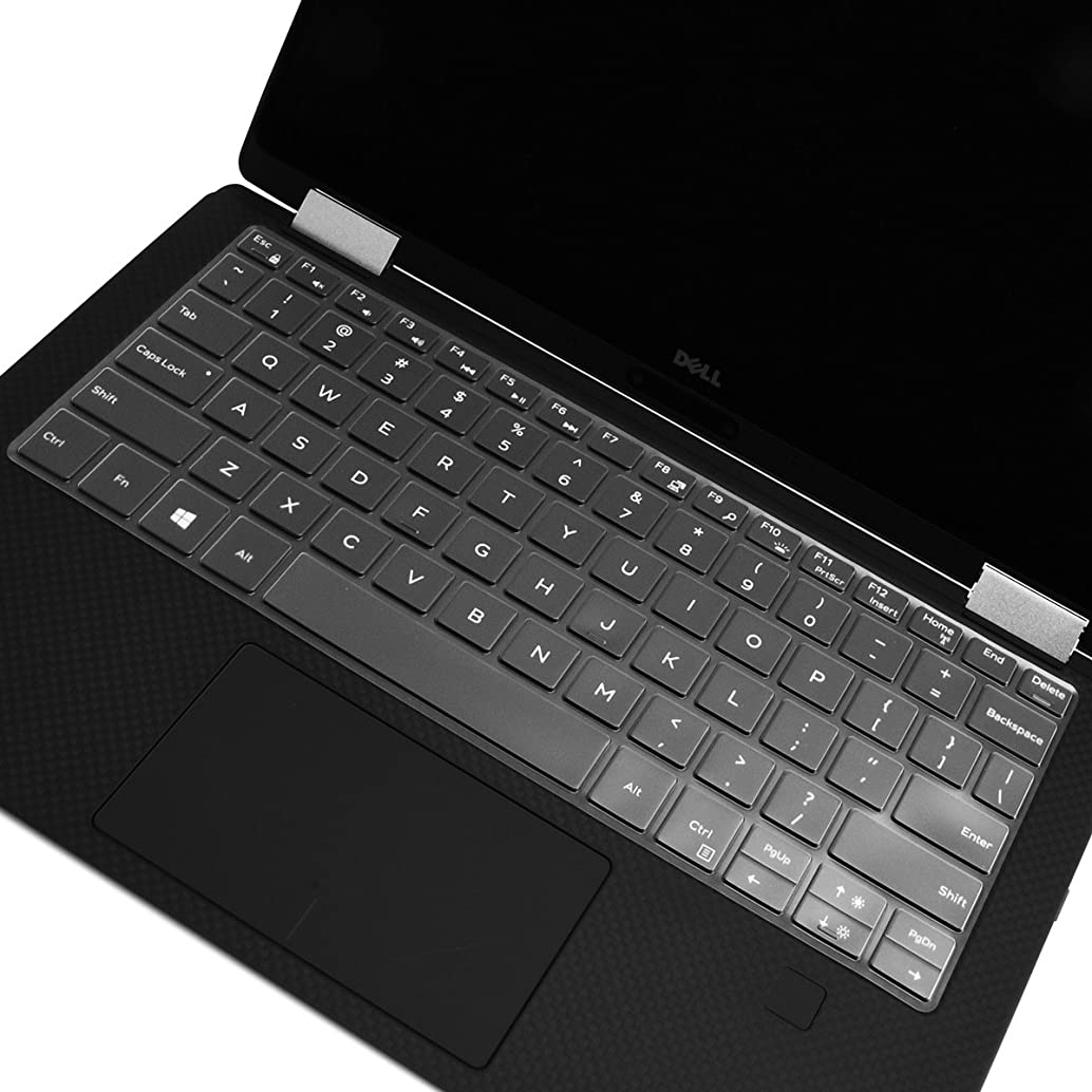 TOP CASE - Ultra Thin Invisible Keyboard Protector Cover Compatible with Dell XPS 9365 13.3-Inch 2 in 1 Ultrabook Laptop 2017 est Model