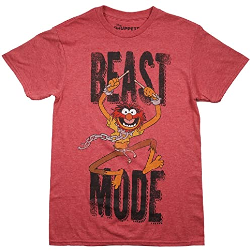 366fc211319bf Muppets The Animal Men s T-Shirt in Heather Red.