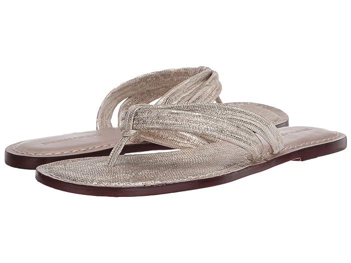Bernardo  Miami Sandal (Gold Metallic Lizard Two-Tone) Womens Sandals