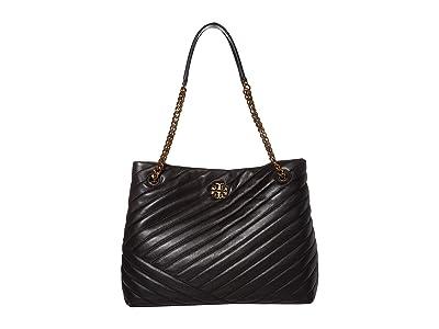 Tory Burch Kira Chevron Tote (Black) Handbags