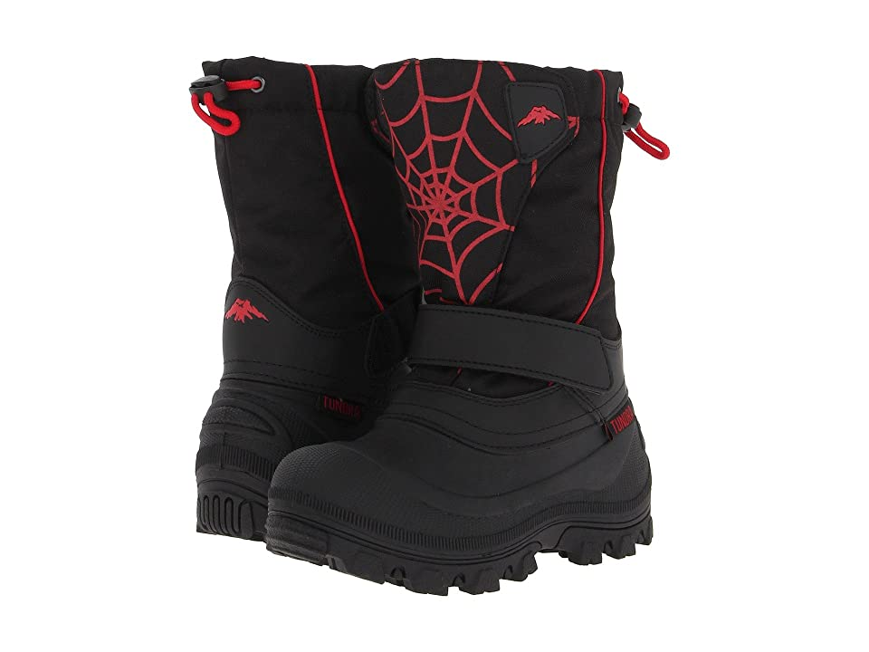 Tundra Boots Kids Quebec Wide (Toddler/Little Kid/Big Kid) (Black/Red/Web) Boys Shoes