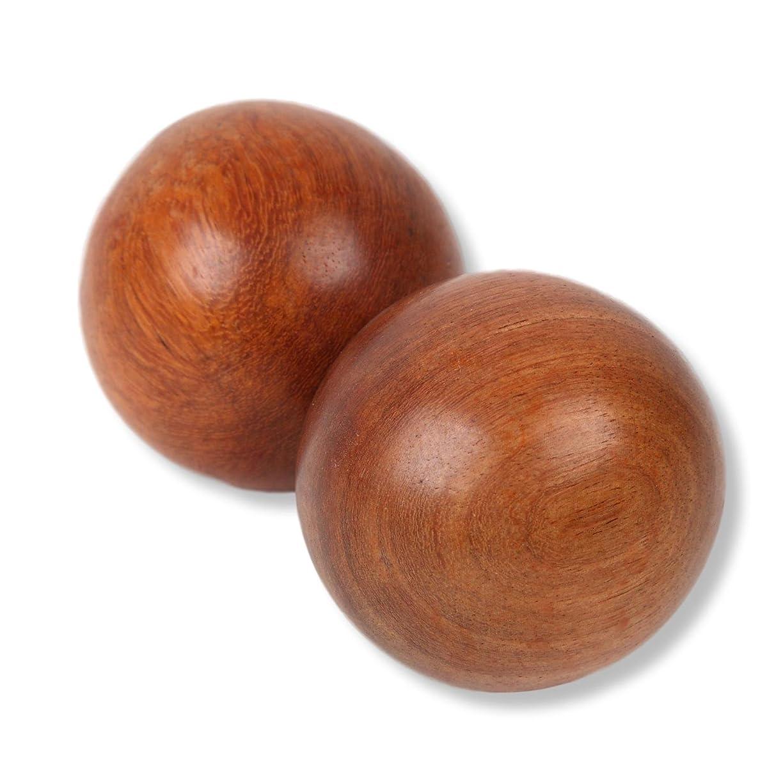 国勢調査テレックス被害者SunnyBran 木製ボール マッサージ リハビリ インテリア 等に 2個入り