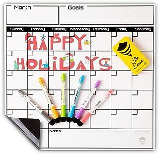 Dry Erase Calendar Set-Monthly Fridge Calendar Whiteboard-Large Magnetic Calendar for Refrigerator-17x16.5 Fridge Whiteboard-Magnet Refrigerator Calendar-Magnetic Dry Erase Calendar by BeezArmor