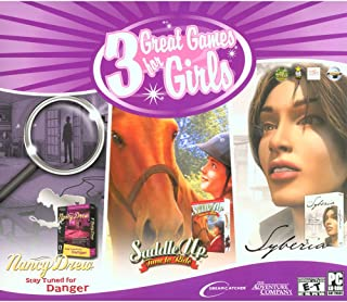 3 Great Games for Girls (Nancy Drew Syberia & Saddle Up)