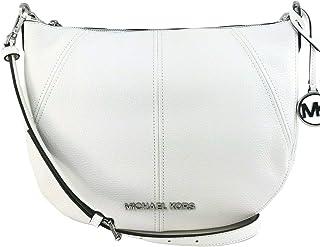 Michael Kors Women's Bedford Medium Crescent Shoulder Bag, Leather - White