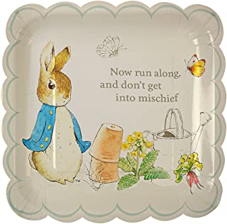 Meri Meri, Peter Rabbit Scallop Edge Plates, Birthday, Party Decorations - Large