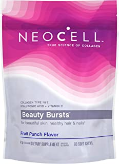 Best NeoCell Beauty Bursts Collagen Soft Chews, 2,000mg Collagen Types 1 & 3, Fruit Punch Flavor, 60 Count (Package May Vary) Review