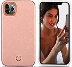 Avkkey iPhone 11 Pro Led Case iPhone 11 Pro Selfie Light iPhone Case Great for a Bright Selfie and Facetime Illuminated Light Up Case Cover for iPhone 11 Pro 5.8 inch/Rose Gold