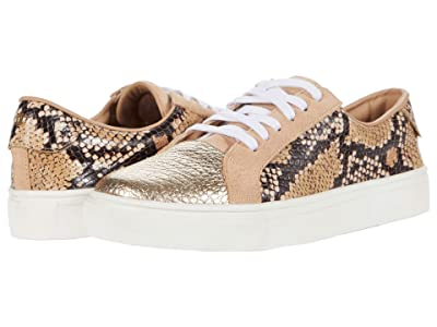 KAANAS London Snake Lace-Up w/ Metallic Toe-Cap (Sand) Women