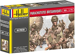 Heller British Paratroopers Model Kit (Set of 50) (1/72 Scale)