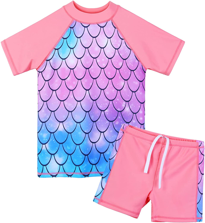 BAOHULU Girls Swimsuit Two Piece Tankini UV Fashion UPF R Max 86% OFF Protective 50+